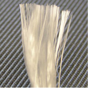 Fibreglass or glass fibres - embedded fibres